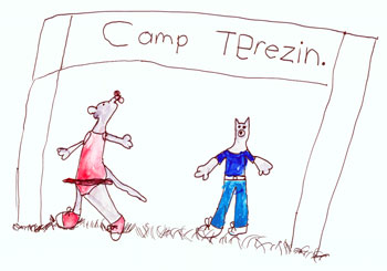 Some Women Writers Kill Themselves: Camp Terezin drawing